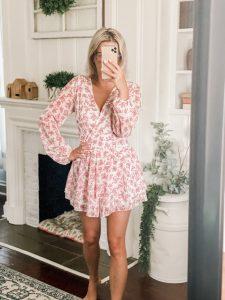 Amazon Fashion long sleeve pink romper