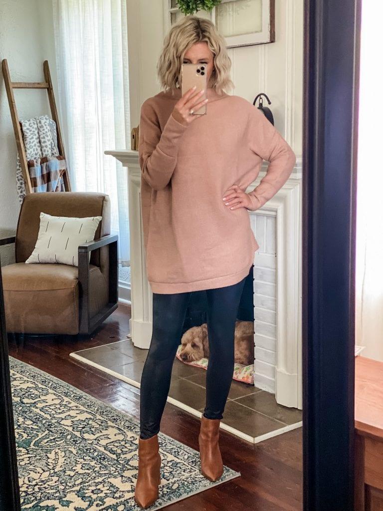 Amazon Fashion long tan sweater